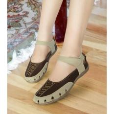 Beli Sepatu Sandal Wedges Wanita Mirip Kickers Flat Mulan 1213 Kredit Jawa Barat