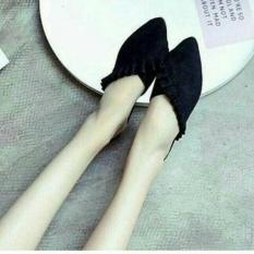 Review Toko Sepatu Sandal Wanita Flat Shoes Cewek Selop Renda Murah Elfan Shop Online