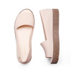 Jual Sepatu Sandal Wanita Roma Mulut Ikan Sol Datar Warna N*d* Oem Ori