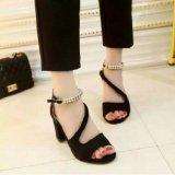 Harga Sepatu Sandal Wanita High Heels Gelang Hitam Asli Dhala