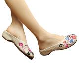 Jual Sepatu Sandal Wanita Katun Bordir Cina Warna Warna Warni Menarik Awan 36 Internasional Tiongkok