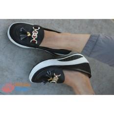 Sepatu Sandal Wedges Wanita Murah Gucci Style BCB02 - Black