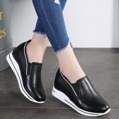Diskon Besarsepatu Santai Korea Fashion Style Perempuan Sepatu Sol Tebal Sol Tebal Sepatu Wanita Kulit Sepatu Hitam Sepatu Wanita Flat Shoes