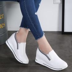 Harga Sepatu San Korea Fashion Style Perempuan Sepatu Sol Tebal Sol Tebal Sepatu Wanita Kulit Sepatu Putih Asli Oem