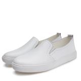 Spek Sepatu Santai Pedal Kulit Kasual Musim Semi Datar Putih Tiongkok