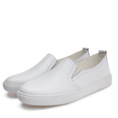 Spesifikasi Sepatu Santai Pedal Kulit Kasual Musim Semi Datar Putih Yang Bagus Dan Murah