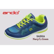 Jual Sepatu Sasha Navy L Green Branded Original