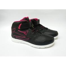 Sepatu Sekolah Anak Perempuan Hitam Pink / Sepatu Boots Anak / Sepatu Kets Anak Prempuan Cewek / Sepatu Olahraga Anak Wanita Cewek Murah