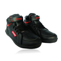 Sepatu sekolah anak Perempuan / Laki-laki model boot - hitam - tali
