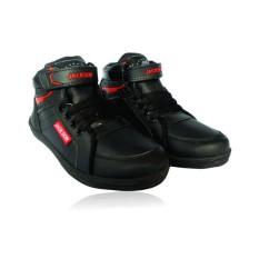 Sepatu sekolah anak TK-SD model boot - hitam - tali
