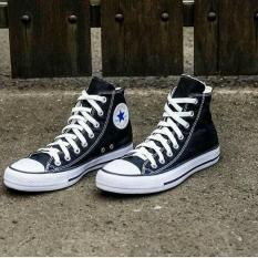 Sepatu Sekolah Kuliah Casual Converse All Star High Hitam - 6Ixops