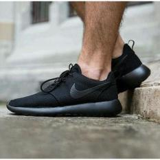 Sepatu Sekolah Nike Roshe Run One All Full Black Hitam Man Women Untuk - Zaurl7