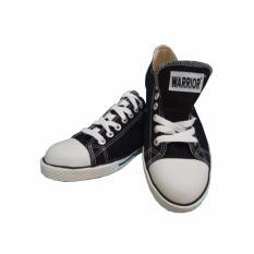 Sepatu Sekolah, Warrior Athena Low Cut - Hitam/Putih