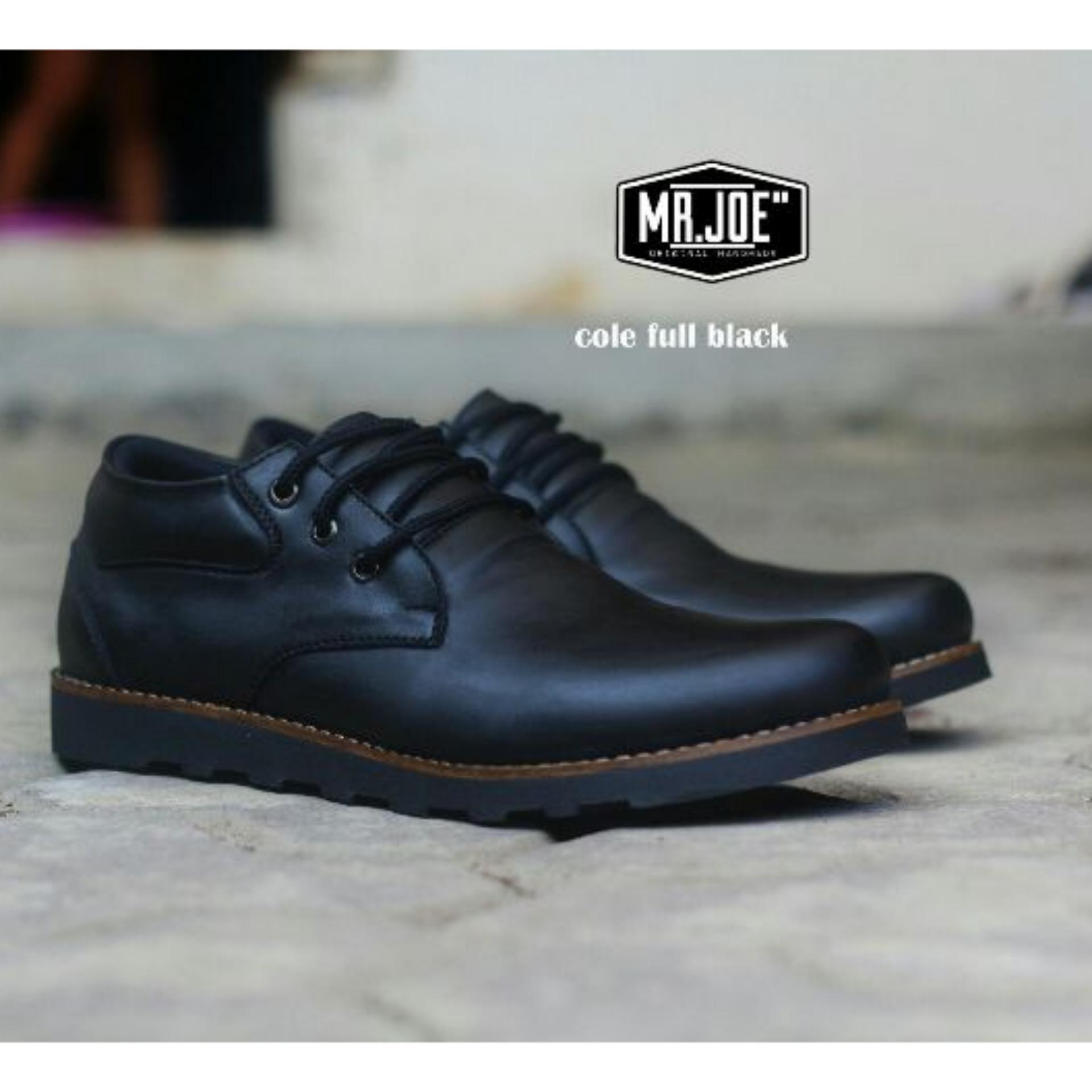 Sepatu Semi Boots Casual Pria - MR JOE COLE - Full Black