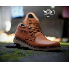 Sepatu Semi Boots Casual Formal Terbaru - MR JOE COLE - Tan
