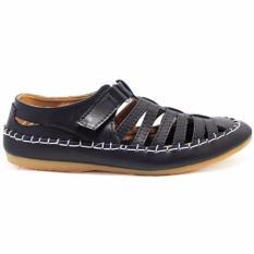 sepatu sendal black master Kickers Corsa Suede Kulit Asli Sepatu sandal Slip On Pria Casual Formal Kerja Pantofel