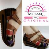 Diskon Produk Sepatu Sendal Wedges Selop Sandal Wanita Mirip Kickers Merk Mulan 1040