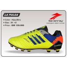 Toko Sepatu Sepakbola Sevenray La Pulga Hijau Biru Lengkap