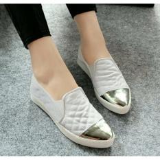 Jual Sepatu Slip On Channel Wanita Nafiza Putih Nfz 010 Ori