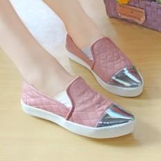 Jual Cepat Sepatu Slip On Channel Wanita Nafiza Salem Nfz 001