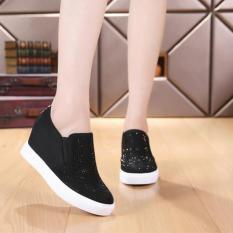 SEPATU / SLIP ON / KETS / SNEAKERS / BOOTS / WEDGES AD44 HITAM