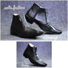 sepatu slip on kulit pantopel pria casual formal pantofel handmade kerja kantor kickers Cevany murah