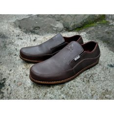 Beli Sepatu Slip On Kulit Sepatu Loafer Casual Babayaga Coklat Baru
