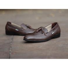 Jual Beli Sepatu Slip On Leather Men S Cevany Derosa Coklat