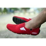 Beli Sepatu Pria Casual Slip On Mocdas Slop Hitam Putih Kredit Jawa Barat