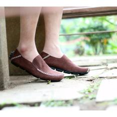 Jual Sepatu Slip On Pria Mocasin Loafer Cevany Original Cevany Moscue Brown Cevany Grosir