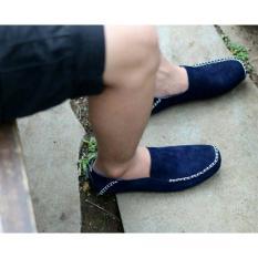 Harga Hemat Sepatu Slip On Pria Mocasin Loafer Cevany Original Cevany Moscue Navy
