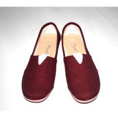 Sepatu flat shoes slip on toms/wakai marun