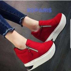 Sepatu Slip On Wedges Wanita Merah - Hamida R2