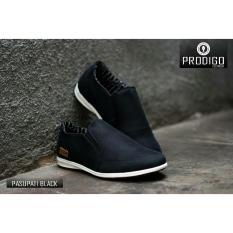 Spesifikasi Sepatu Slip On Formal Slop Casual Pria Prodigo Pasupati Black Murah