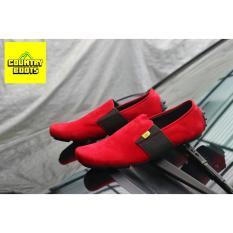 Toko Sepatu Slop Casual Pria Country Boots Porosus Red Online Terpercaya