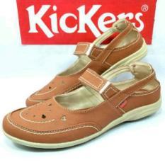 Sepatu Slop Kickers Woman Flatshoes Wanita Kulit Syntetis