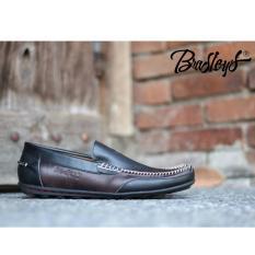 Ulasan Tentang Sepatu Slop Kulit Asli Formal Slip On Rajut Pria Bradleys Moscato Hitam Coklat