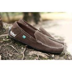 Jual Beli Sepatu Slop Pria Slip On Casual Hugges Brown Baru Banten