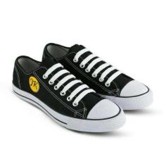 Sepatu sneacker pria casual-sekolah kuliah-sepatu JK warior hitam