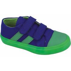 Review Sepatu Sneaker Anak Laki Laki Catenzo Junior Crf 002 Biru Hijau Kanvas Jawa Barat