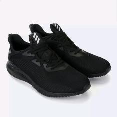Sepatu Sneaker Olahraga Pria, Adidas Alphabounce Hitam
