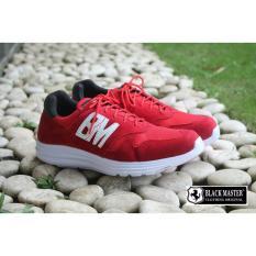 Sepatu Sneaker Pria - blackmaster original - BM NB ( RED )