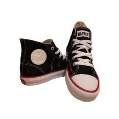 Beli Sepatu Sneaker Warrior Classic High Cut Hitam Putih Online