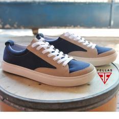 Sepatu Sneakers Branded Nyaman Pria Modis Terkini - FELLAS ROWLEY - Navy