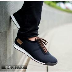 Sepatu Sneakers Branded Trend Pria Original - PRODIGO FOOTWEAR KOMODO - Black