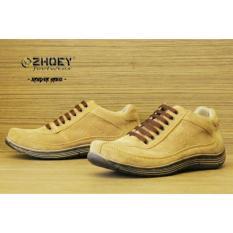 Sepatu Sneakers Casual Pria - ZHOEY FOOTWEAR SPYDER - Krem