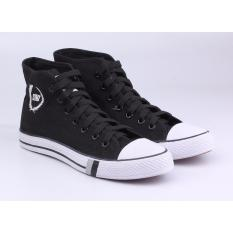 Beli Sepatu Sneakers Kets Casual Pria Catenzo Ja 002 Hitam Kanvas Online Terpercaya