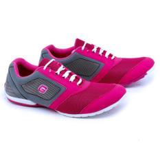 Diskon Sepatu Sneakers Olahraga Sport Running Wanita Warna Pink Abu Kombinasi Gsd 7025 Akhir Tahun
