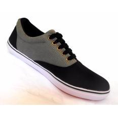 Beli Sepatu Sneakers Pria Hitam Kombinasi Sepatu Casual