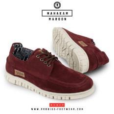 Sepatu Sneakers Ringan Pria Nyaman Modis Terkini - PRODIGO FOOTWEAR MAHAKAM - Maroon